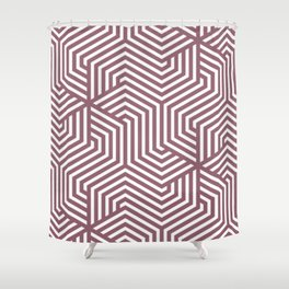 Raspberry glace - violet - Minimal Vector Seamless Pattern Shower Curtain
