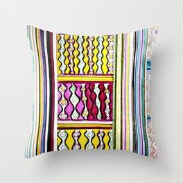 Color Maze Throw Pillow