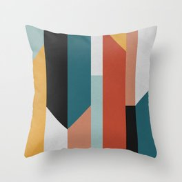 Speak Up Abstract Throw Pillow
