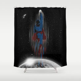 Out in space (Superman) Shower Curtain