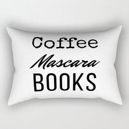 Coffee Mascara Books Rectangular Pillow