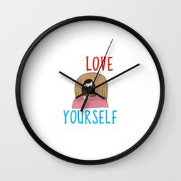 Learning To Love Yourself Self Confidence Self Improvement Wall Clock