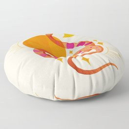 Abstraction_SUN_MOON_SNAKE_Minimalism_001 Floor Pillow