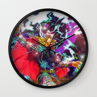 thor Wall Clocks featuring Thor by Artless Arts