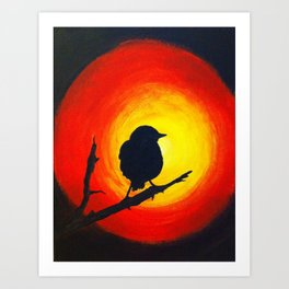 Black Bird Silhouette Art Print