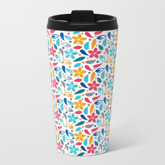 Colorful Lovely Pattern X Travel Mug