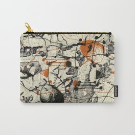 Vintage Made Modern: Matterhorn Switzerland Map Collage with Doodles Carry-All Pouch