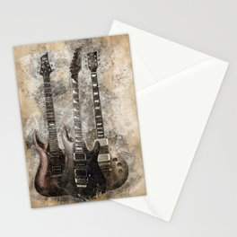 Sounds of music. Three Guitars. Stationery Cards