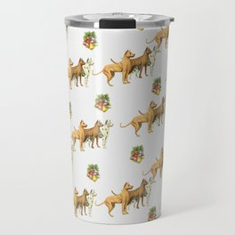 CHRISTMAS DOGS PATTERN Travel Mug