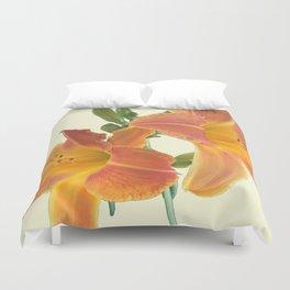 Garden Blooms - Orange Alone Duvet Cover