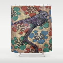 Weird bird Shower Curtain
