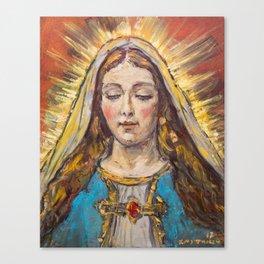 Beata Virgen Maria Canvas Print