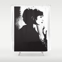 dreamer Shower Curtains featuring Dreamer by Cat Milchard