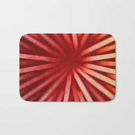 Intersecting-Red Bath Mat
