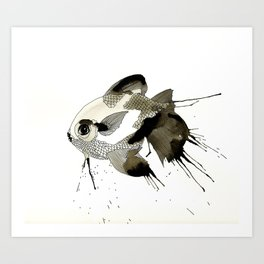 Lady Fish Art Print