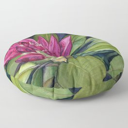 Rhododendron Bud Floor Pillow