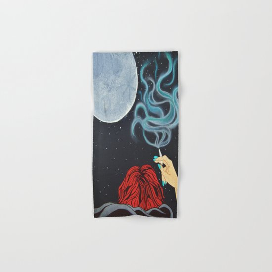 Midnight Toker (#2) - Smoking Lady Series Hand & Bath Towel