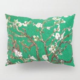 Vincent van Gogh Blossoming Almond Tree (Almond Blossoms) Emerald Sky Pillow Sham