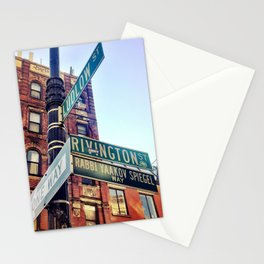 Ludlow and Rivington, Lower East Side Manhattan Stationery Cards