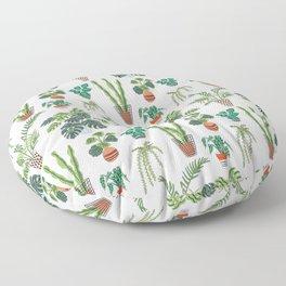 flowerpots pattern Floor Pillow