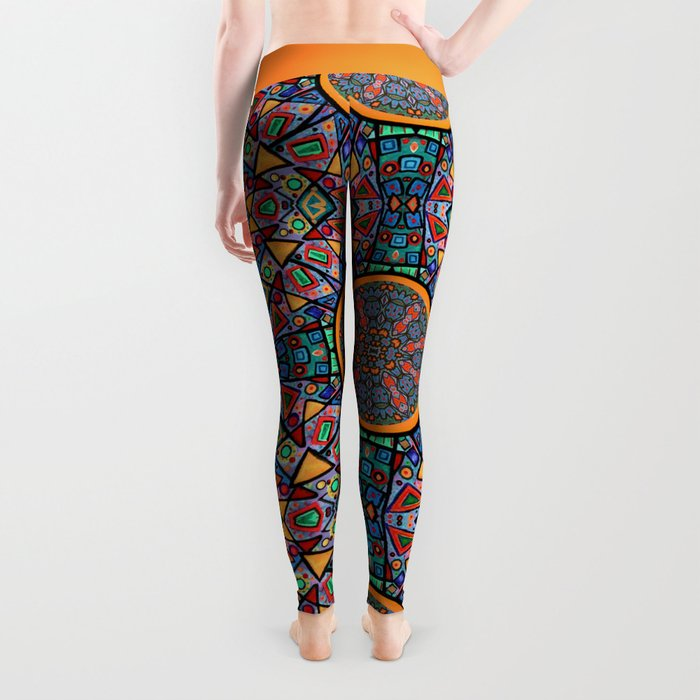 Abstract Sun Leggings