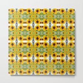 193 - Sunflower abstract pattern Metal Print