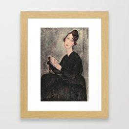 Portrait of Dedie Hayde by Amedeo Modigliani Framed Art Print