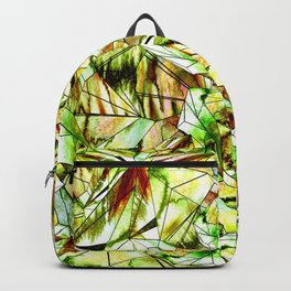 Crystal Golden Yellow Emerald Gems Backpack
