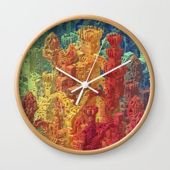 Castle Block Wall Clock