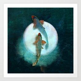 Koi & Luna Art Print