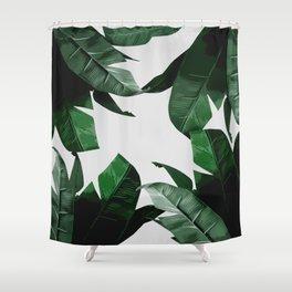 Banana Palm Leaves Shower Curtain