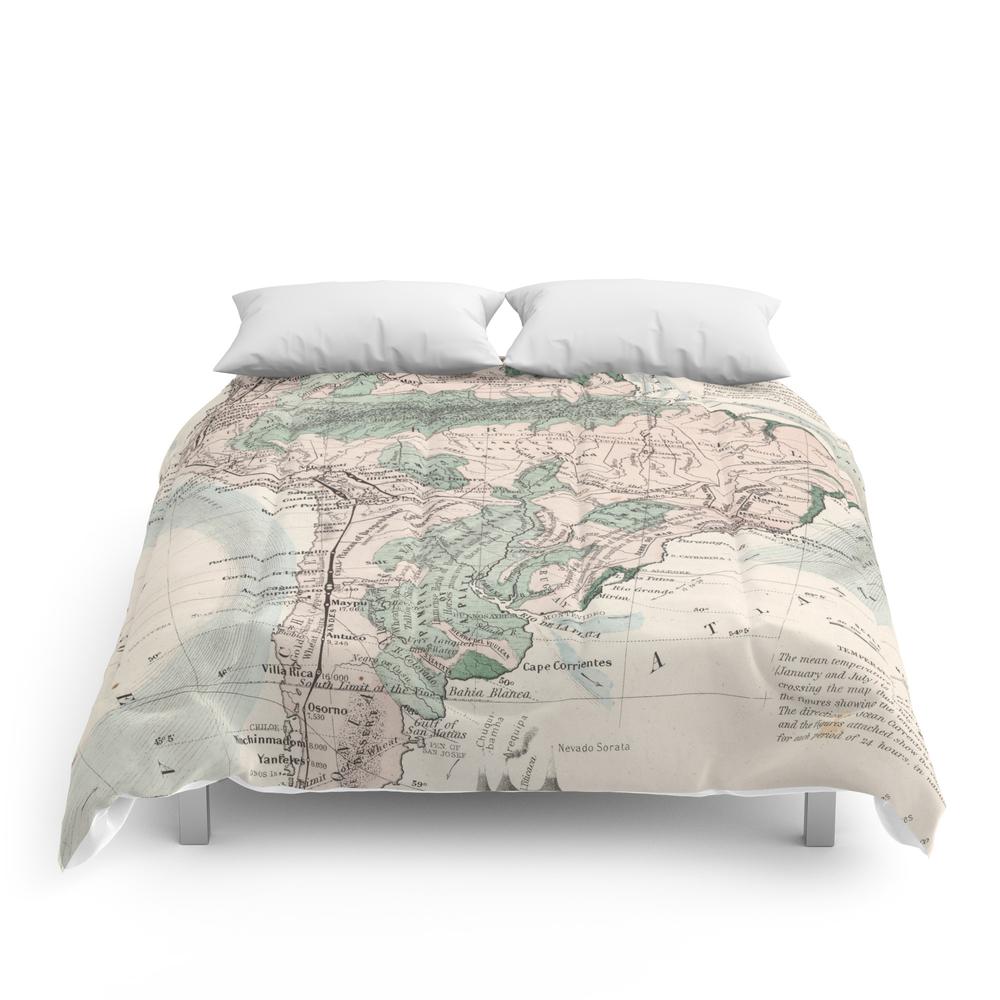 Vintage Map of South America (1858) Comforter (CFM9068647) photo