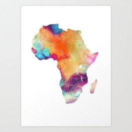 Africa Map 3 Art Print