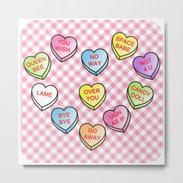 Conversation Hearts Metal Print