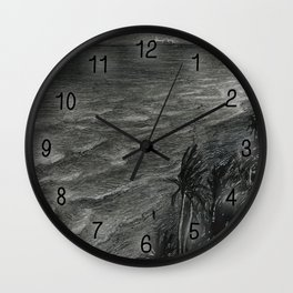 Fort Lauderdale, night Wall Clock