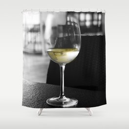 The Lone Companionship of Pinot Noir Shower Curtain