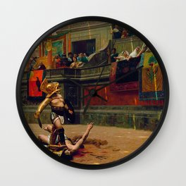 Jean-Leon Gerome - Pollice Verso - Digital Remastered Edition Wall Clock