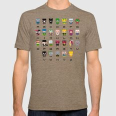 Pixel Supervillain Alphabet 2 LARGE Mens Fitted Tee Tri-Coffee