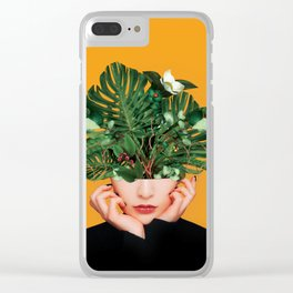Lady Flowers || Clear iPhone Case