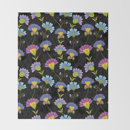 Decorative Floral Pattern Throw Blanket