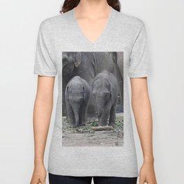 Elephant_20170601_by_JAMFoto Unisex V-Neck