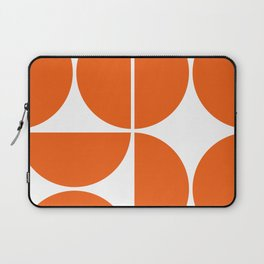 Mid Century Modern Orange Square Laptop Sleeve