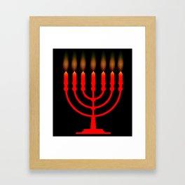 Menorh With Seven Candles Framed Art Print