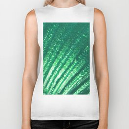Mermaid Fantasy Green Seashell Texture Biker Tank