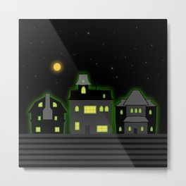 Haunted Houses Metal Print