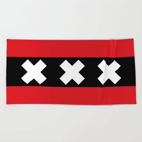 Flag of Amsterdam Beach Towel