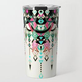 Modern Deco in Pink and Turquoise Travel Mug