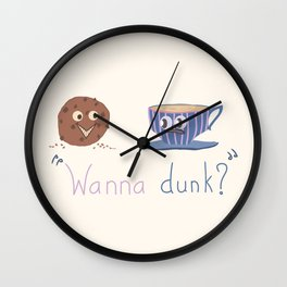 Wanna Dunk? Wall Clock