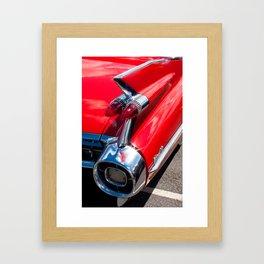 Cadillac Fins Framed Art Print