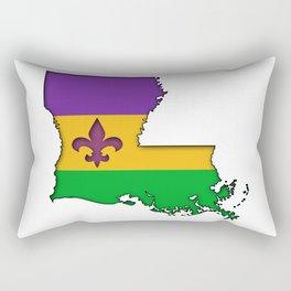 Louisiana Mardi Gras Love! Rectangular Pillow
